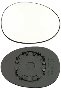 Зеркальный элемент Citroen C1 2005-2015